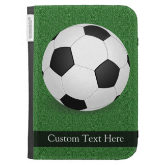Personalized Soccer Ball Kindle Keyboard Cases