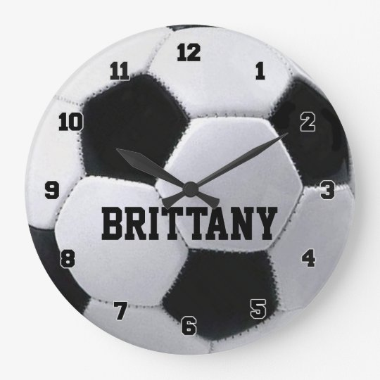 Personalized Soccer Ball Clock Zazzlecom