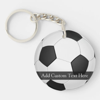 Personalized Soccer Ball Double-Sided Round Acrylic Keychain
