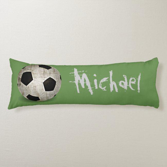 Personalized Soccer Ball Fun Body Pillow