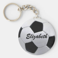 Personalized Soccer Ball Keychain at Zazzle