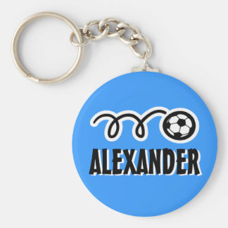 Personalized soccer ball keychain for kids name