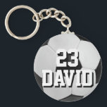 "Personalized Soccer Ball Keychain Name and Number<br><div class=""desc"">Personalized Soccer Ball Keychain Name and Number Great gift for sports fans,  little league players,  soccer enthusiasts and pretty much anyone that enjoys the soccer.  Easily customize Name and Number!</div>"