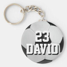 Personalized Soccer Ball Keychain Name And Number at Zazzle