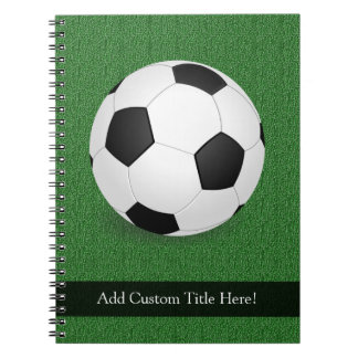 Personalized Soccer Ball Spiral Notebooks