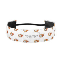 Personalized Soccer Ball on Fire Athletic Headband