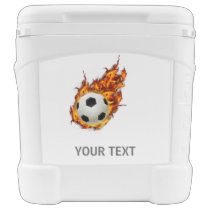 Personalized Soccer Ball on Fire Cooler