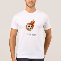 Personalized Soccer Ball on Fire T-Shirt