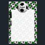 "Personalized Soccer Ball on Football Pattern Dry-Erase Board<br><div class=""desc"">A football soccer ball design which is fully customizable with your own name or text. The background features a pattern of soccer balls on a football pitch green. Ideal for any soccer player, football coach or soccer fan. Other color combinations of soccer team colors are available in our store and...</div>"