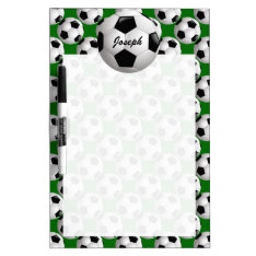 Personalized Soccer Ball On Football Pattern Dry-erase Board at Zazzle