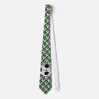 Personalized Soccer Ball on Football Pattern Neck Tie