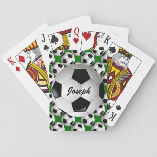 Personalized Soccer Ball on Football Pattern Playing Cards