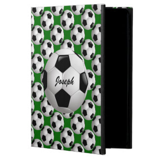 Personalized Soccer Ball on Football Pattern Powis iPad Air 2 Case
