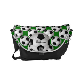 Personalized Soccer Ball on Football Pattern Small Messenger Bag