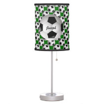 Personalized Soccer Ball on Football Pattern Table Lamp