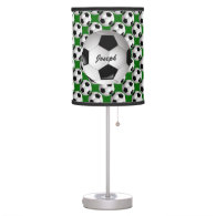 Personalized Soccer Ball on Football Pattern Table Lamps