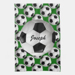 Personalized Soccer Ball on Football Pattern Towel