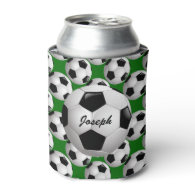 Personalized Soccer Ball on Football Pattern Can Cooler