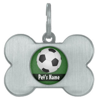 Personalized Soccer Ball Pet Name Tag