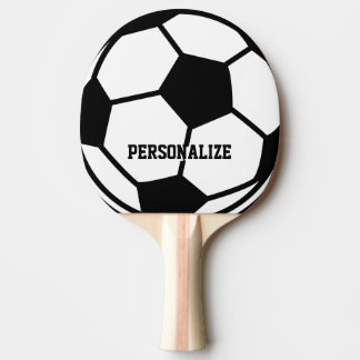 Personalized soccer ball print ping pong paddle