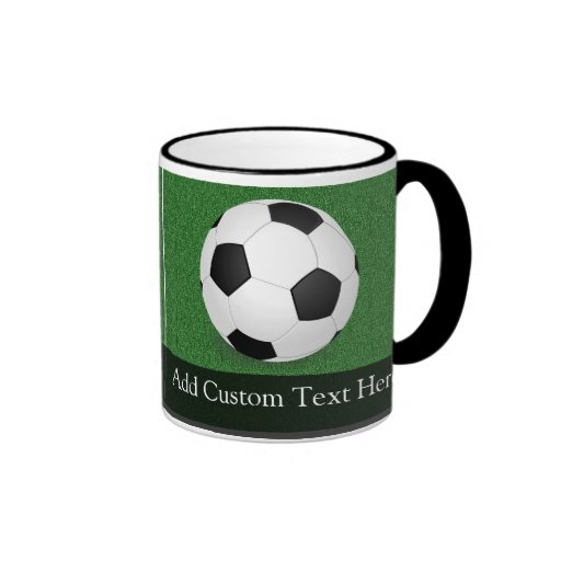 Personalized Soccer Ball Ringer Coffee Mug