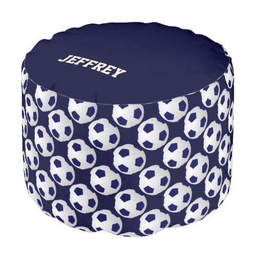Personalized Soccer Ball Round Pouf Cushion/Seat
