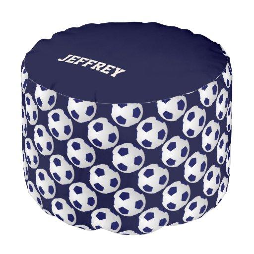 Personalized Soccer Ball Round Pouf Cushion Seat Zazzle