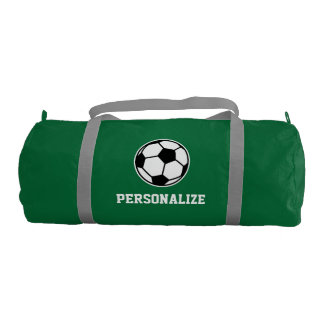 Personalized soccer ball sports duffle bag gym duffel bag