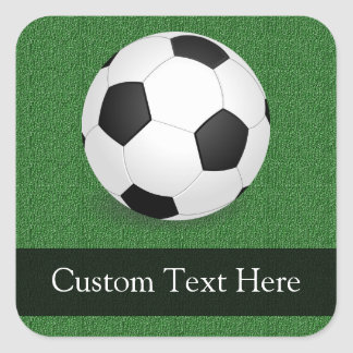 Personalized Soccer Ball Square Sticker