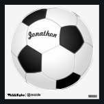 """Personalized Soccer Ball Wall Decal<br><div class=""""desc"""">Soccer Ball Wall Decal Wall Decal Perfect for the Man Cave or Boy&#39;s Teen&#39;s Bedroom or Game Room Personalized with His / Her Name</div>"""