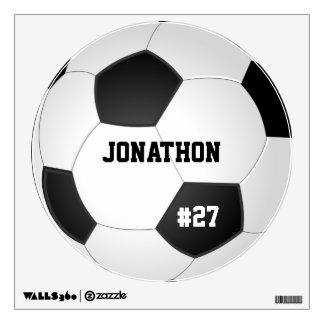 Personalized Soccer Ball Wall Decal