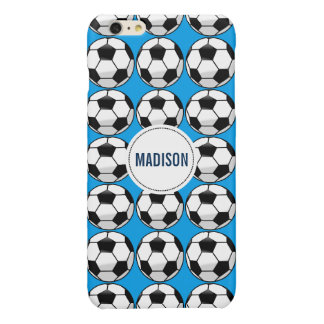 Personalized Soccer Ball with Team Name and Number Glossy iPhone 6 Plus Case