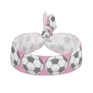 Personalized Soccer Ball with Team Name and Number Hair Tie