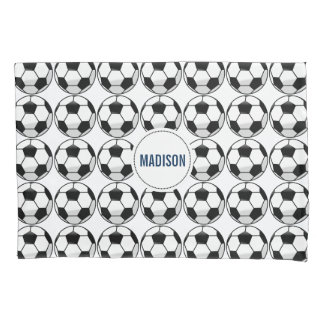 Personalized Soccer Ball with Team Name and Number Pillowcase