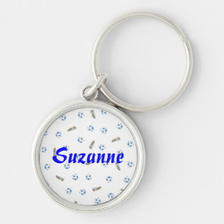 Personalized Soccer Balls and Shoes Keychain