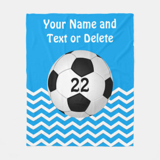 Personalized Soccer Blanket, Your Text and Colors