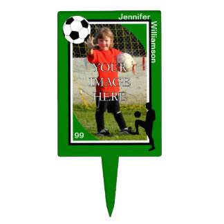 Personalized Soccer Cake Topper