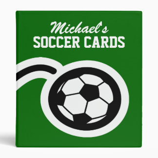 Personalized soccer card binder for collectors