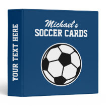 Personalized soccer card binder for kids