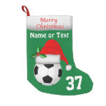 Personalized Soccer Christmas Stockings 2 Text Box