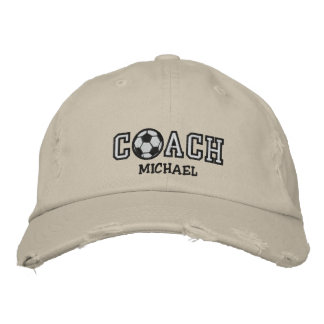 Personalized Soccer Coach Embroidered Baseball Cap