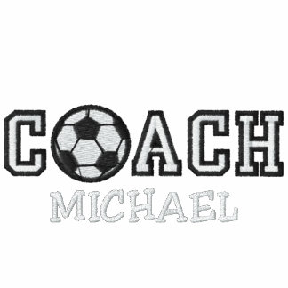 Personalized Soccer Coach Embroidered Hoody
