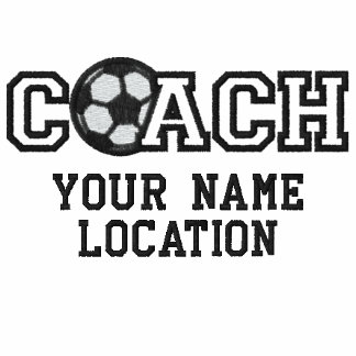 Personalized Soccer Coach Your Name Your Game Embroidered Shirt