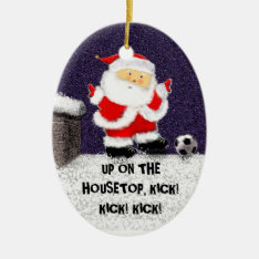 Personalized Soccer Collectible Ceramic Ornament at Zazzle