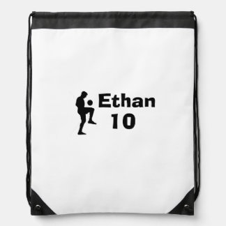 Personalized Soccer Drawstring Backpack (male)