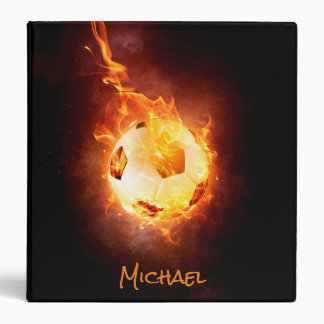 Personalized Soccer Football, Ball under Fire Binder