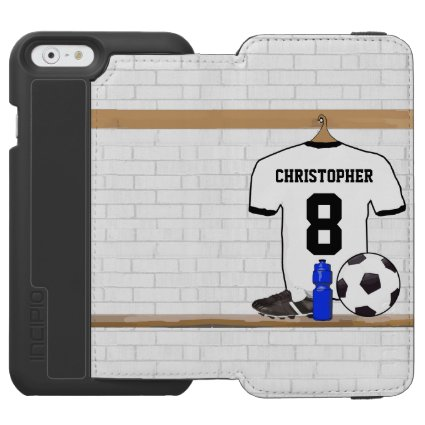 Personalized soccer football jersey design incipio watson™ iPhone 6 wallet case