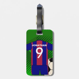 Personalized Soccer football Jersey Luggage Tag