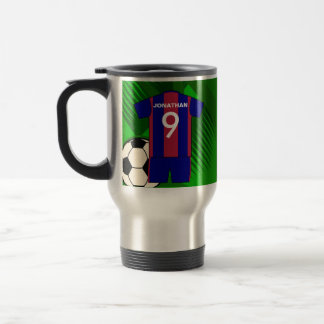 Personalized Soccer football Jersey Travel Mug