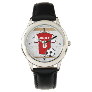 Personalized soccer football jersey wristwatch